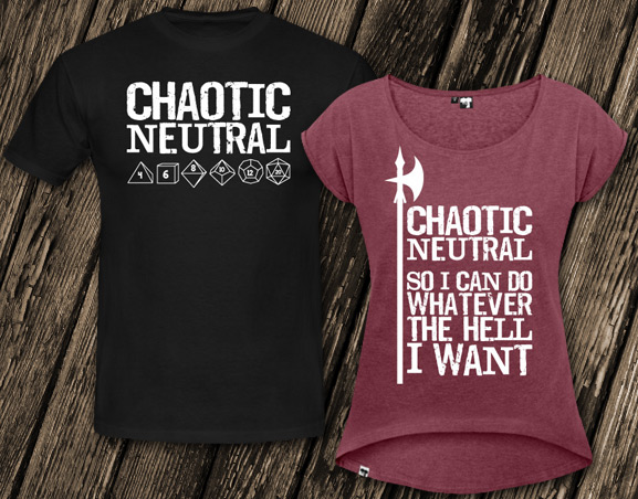 Shirts for Chaotic Neutral